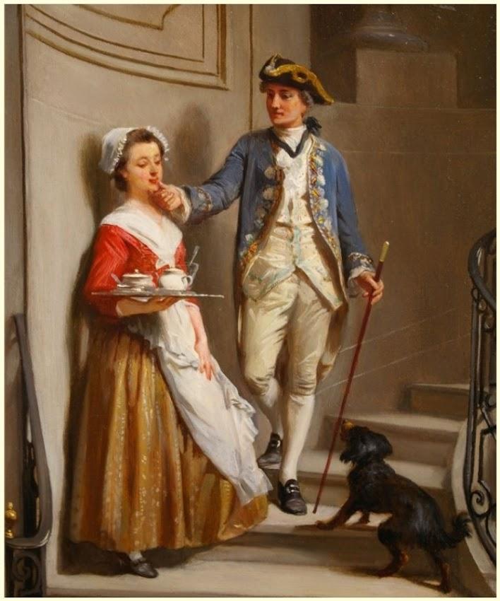 Prudent Louis Leray (French born 1820) Flirtation (Ref. 11066)